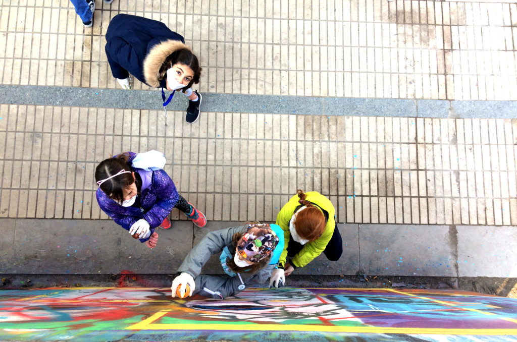Atelier pédagogique street art enfants éducation peinture graffiti