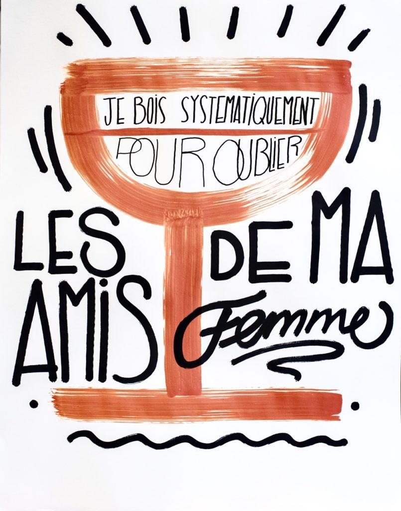 Créations Graphiques art artiste paris affiche cocktail