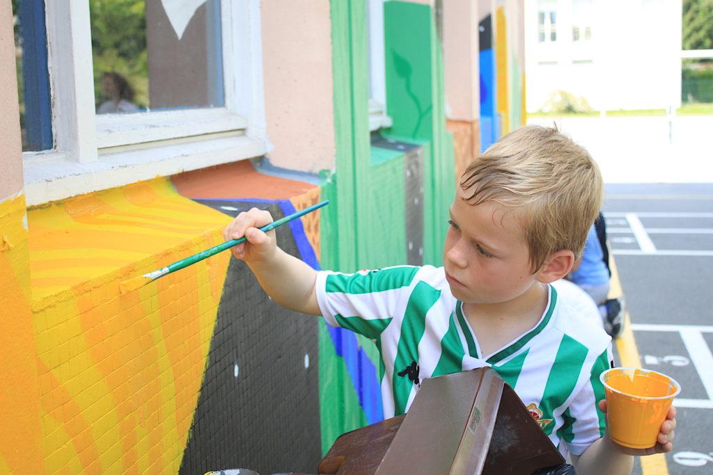 école projet artistique pédagogique enfant peinture street art mur