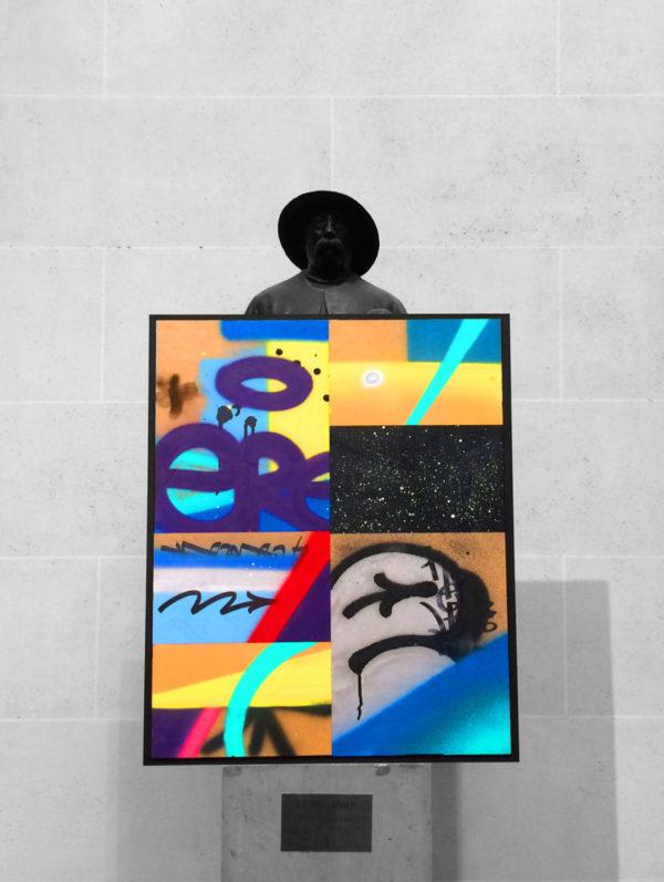 tableau moderne peinture street art graffiti création artiste paris exposition