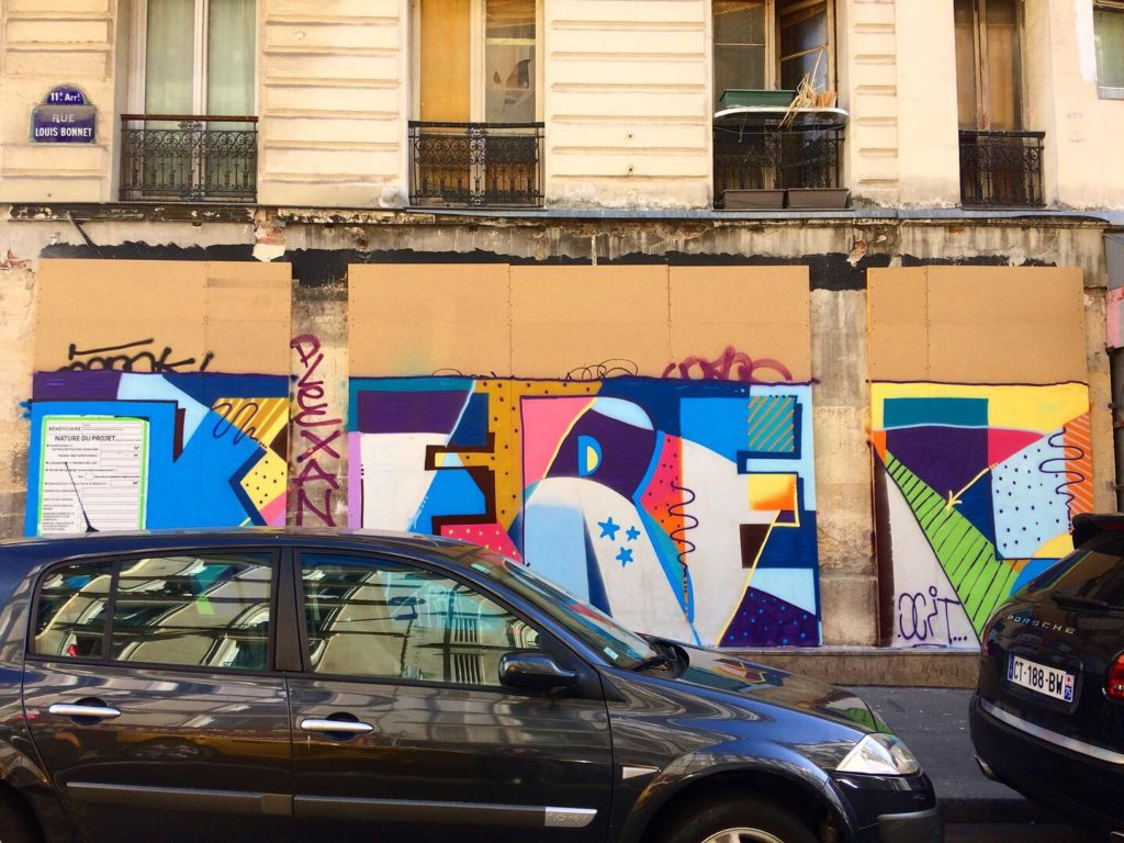 street art graffiti création paris mur dessin