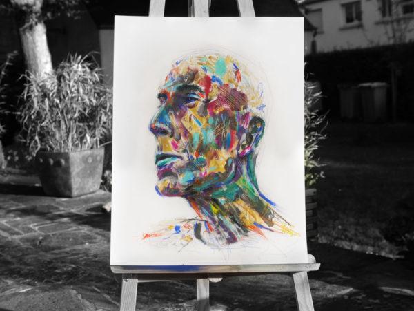 peinture art artiste graffiti street art couleurs tableau homme portrait