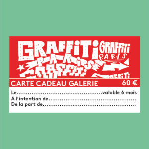 Carte Cadeau Graffiti Paris